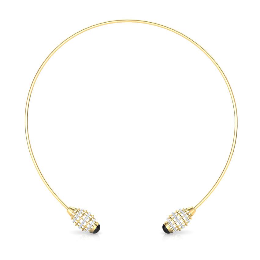 Diamond,Gemstone Necklaces 18 Karat Yellow Gold Eros Minaret Choker Gemstone Necklace