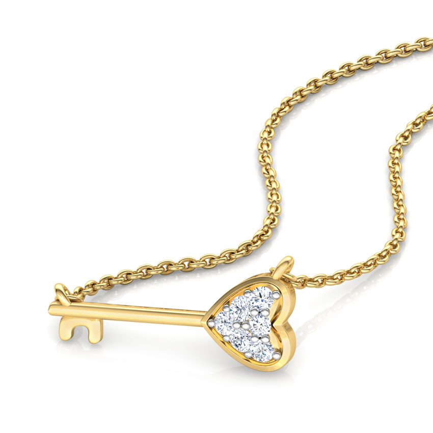 Key to My Heart Bar Necklace