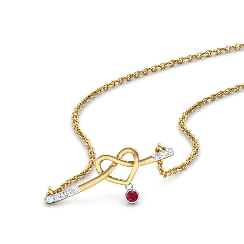 Entwined in Love Bar Necklace