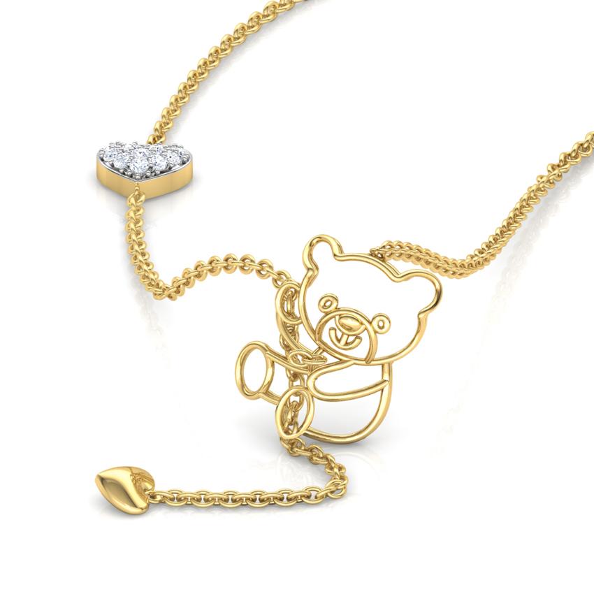 Diamond Necklaces 18 Karat Yellow Gold Teddy Diamond Lariat Necklace