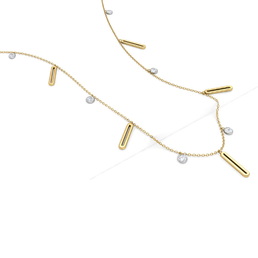 Linear Fine Line Necklace