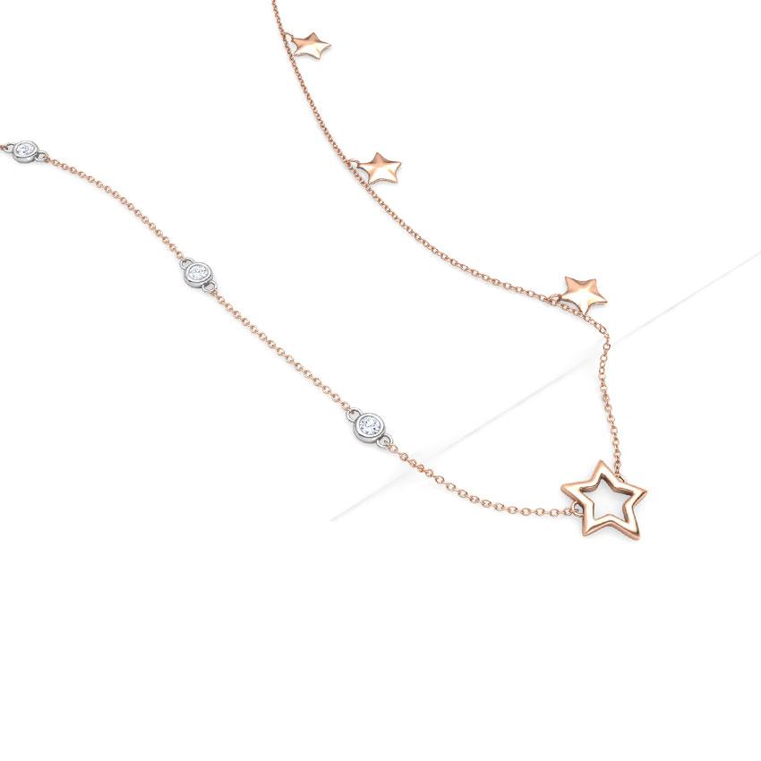 Starry Night Fine Line Necklace