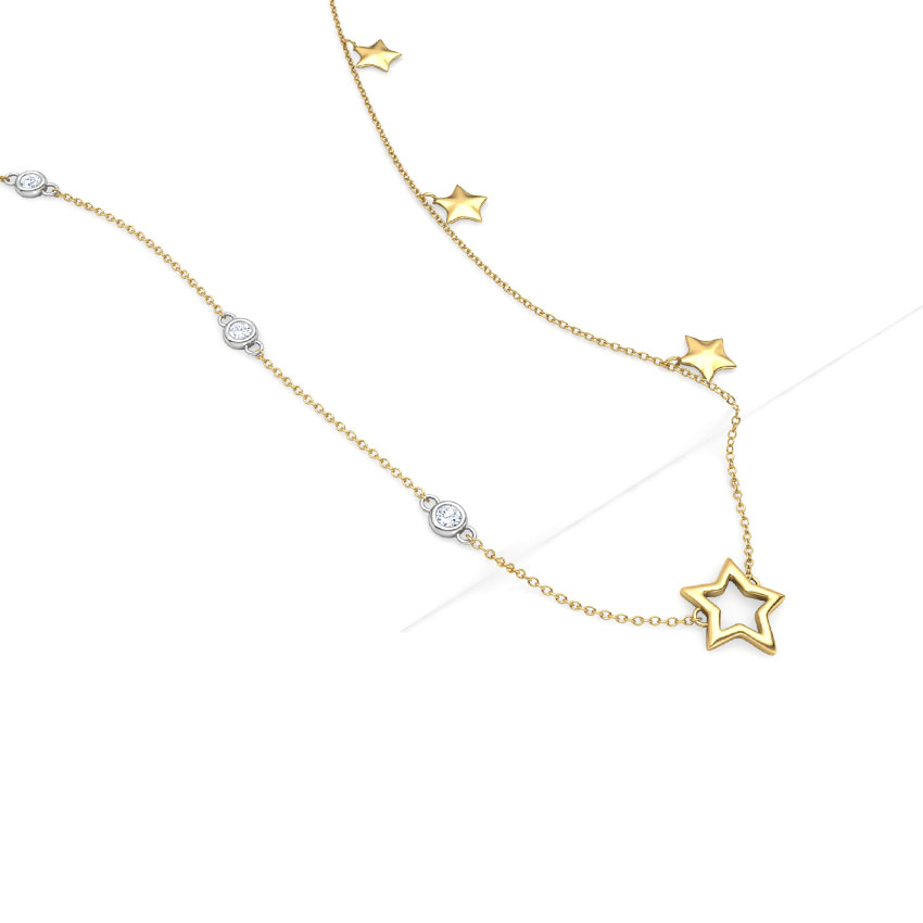 Diamond Necklaces 18 Karat Yellow Gold Starry Night Diamond Necklace