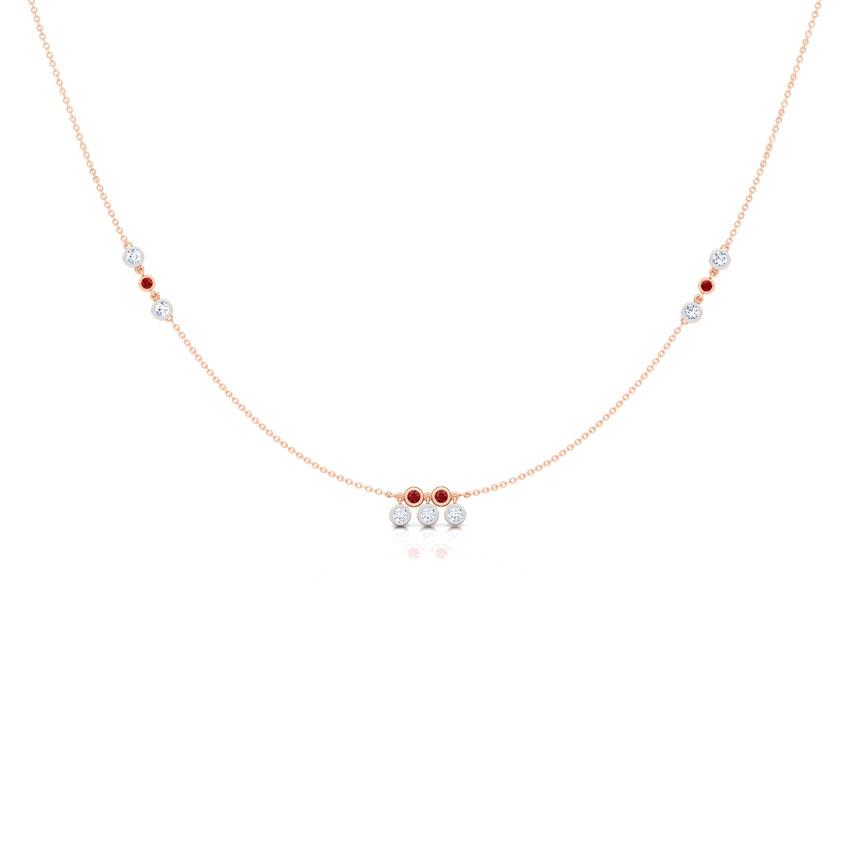 Dewdrops Fine Line Necklace