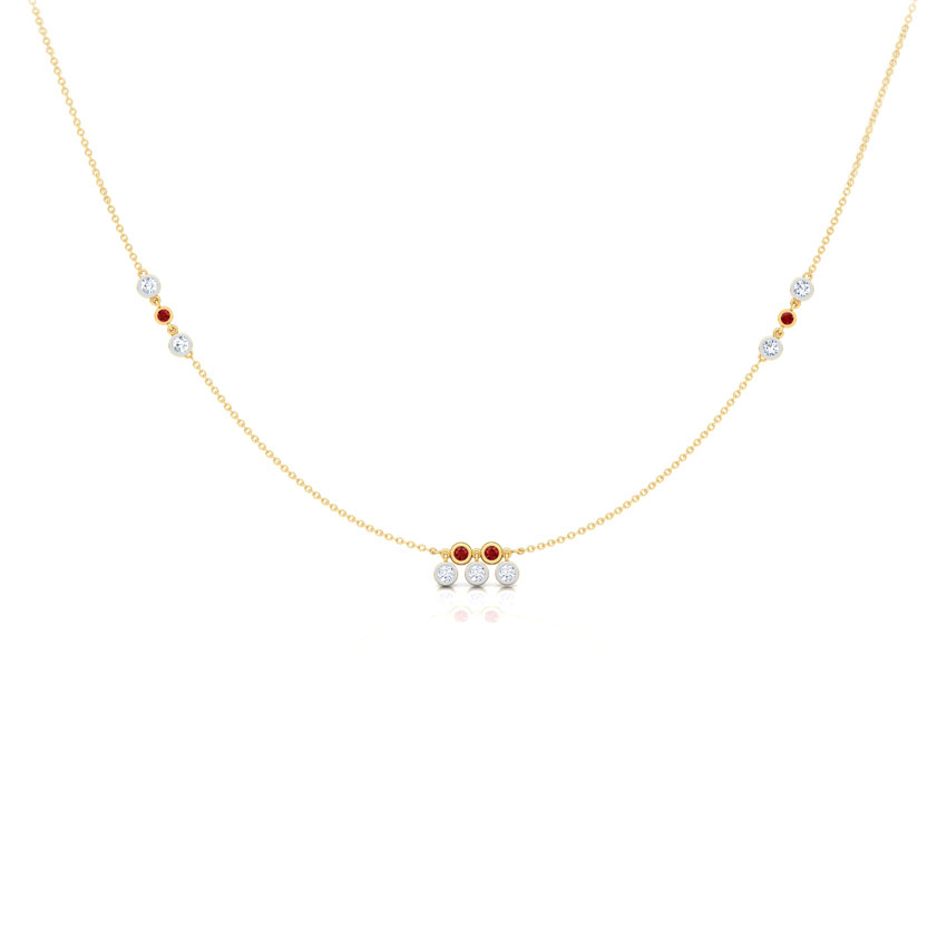 Dewdrops Fine Line Necklace