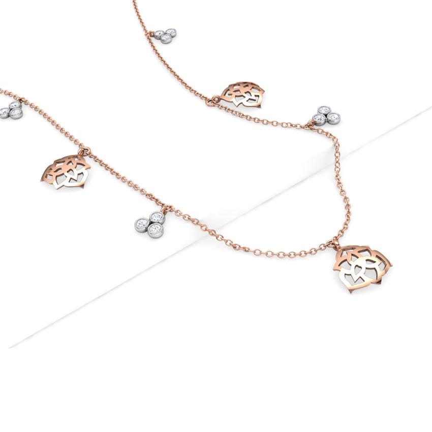 Rose Fine Line Necklace