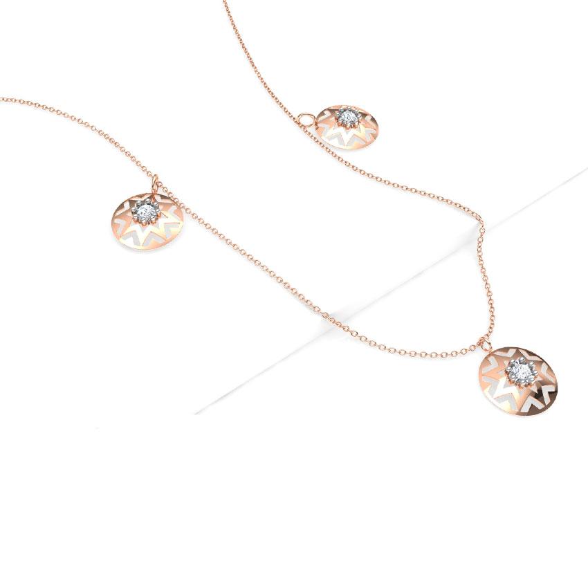 Aztec Fine Line Necklace