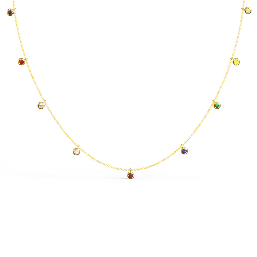 Swing Navratna Necklace