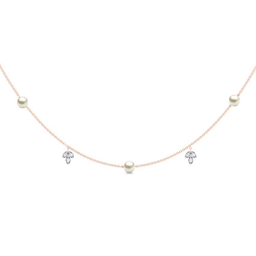Diamond,Gemstone Necklaces 18 Karat Rose Gold Petals Gemstone Necklace