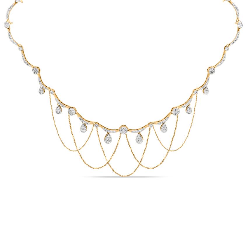 Diamond Necklaces 18 Karat Yellow Gold Ashley Marvellous Diamond Necklace