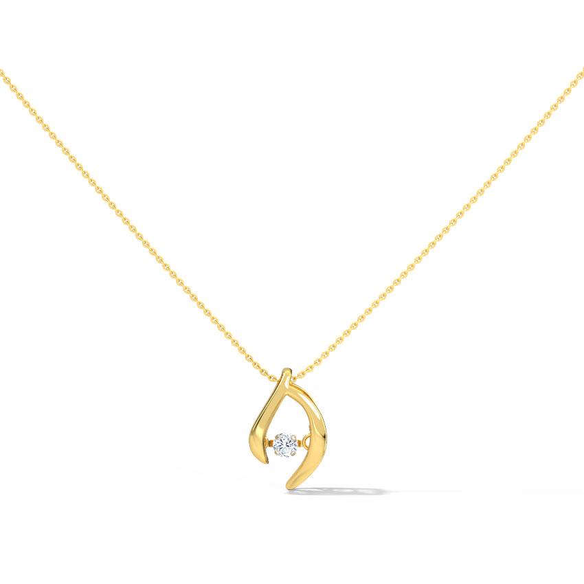 Mary Heartbeat Diamond Necklace