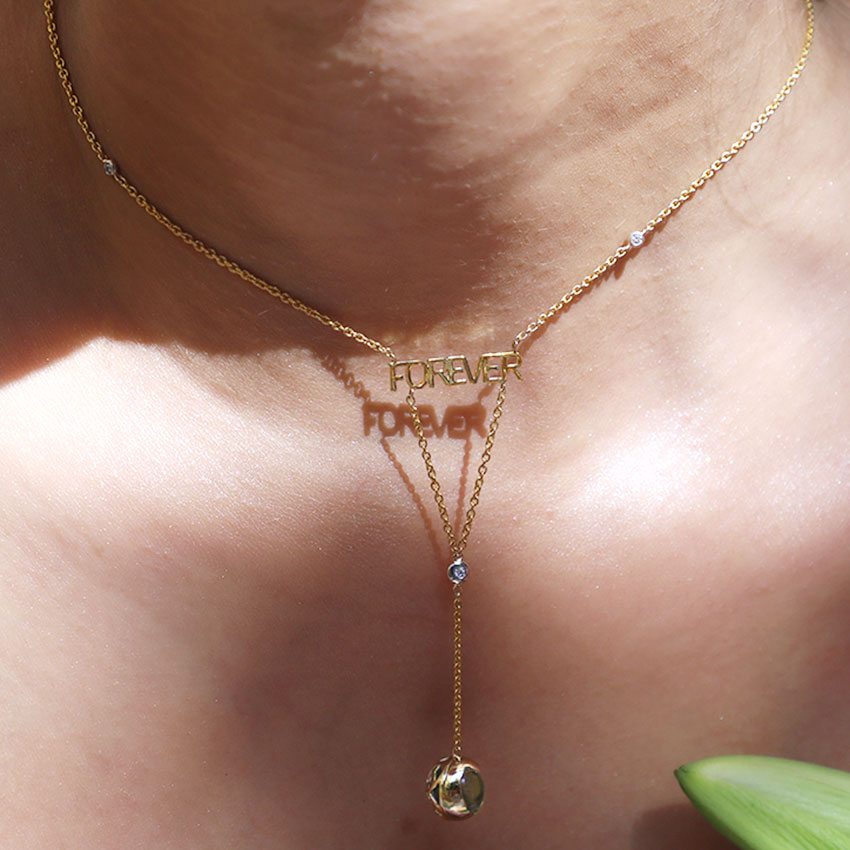 Topaz Orb Forever Necklace