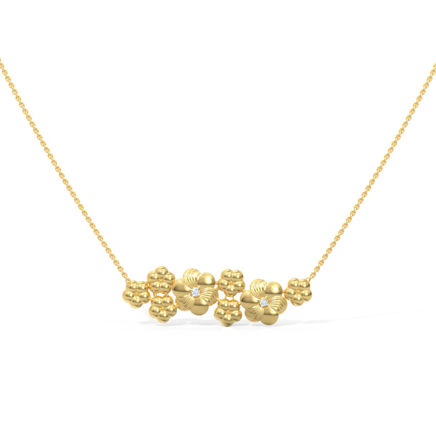 Clustered Floral Necklace