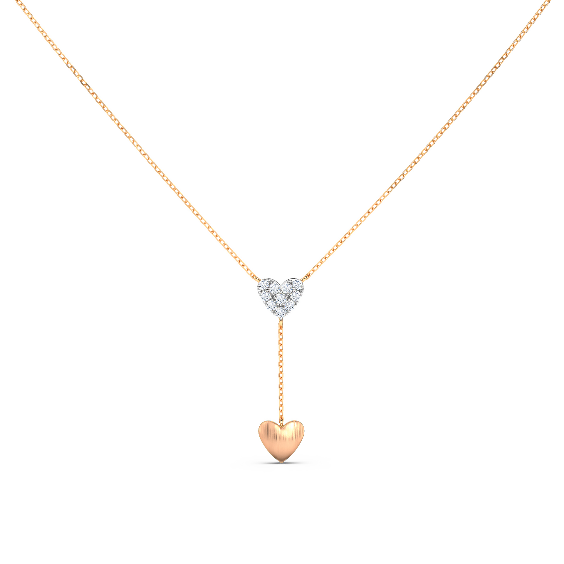 Hearts Lariat Necklace
