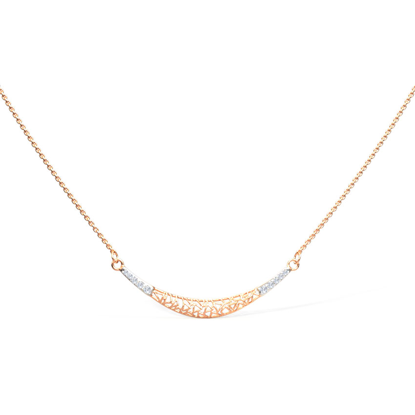 Curvilinear Lattice Chain Necklace
