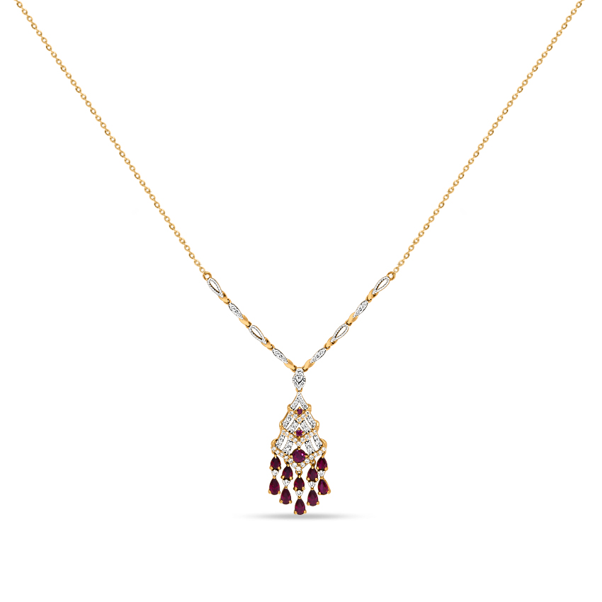 Diamond,Gemstone Necklaces 18 Karat Yellow Gold Mia Fascinating Gemstone Necklace