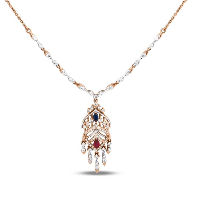 Diamond,Gemstone Necklaces 18 Karat Yellow Gold Imperial Gemstone Necklace