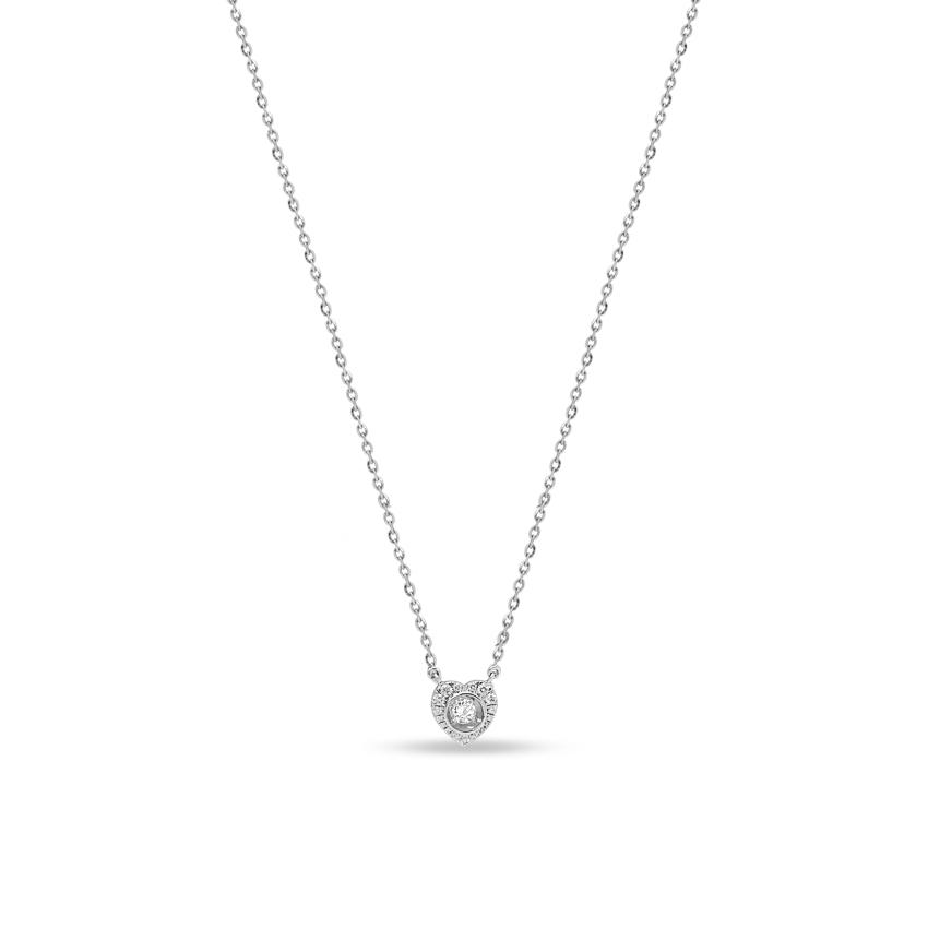 Diamond Necklaces 18 Karat Rose Gold Spectacular Heart Diamond Necklace