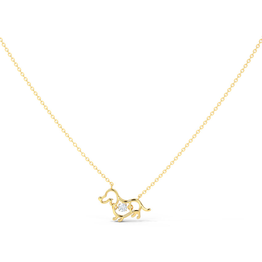 Pup Heartbeat Diamond Necklace
