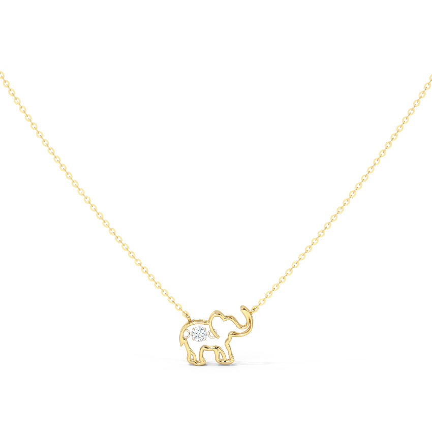 Elephant Heartbeat Diamond Necklace