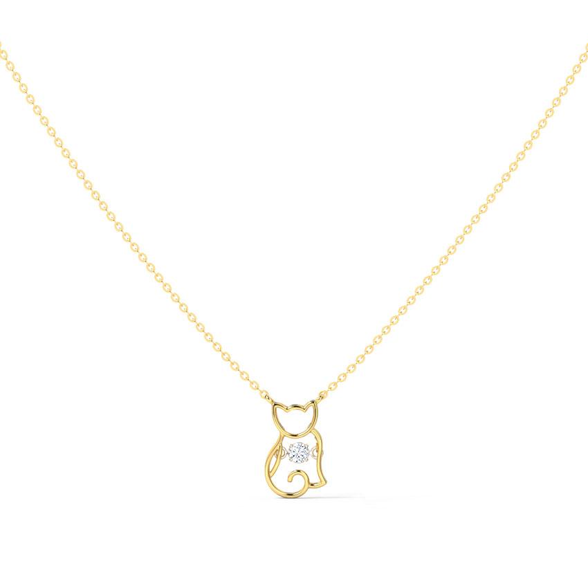 Kitten Heartbeat Diamond Necklace