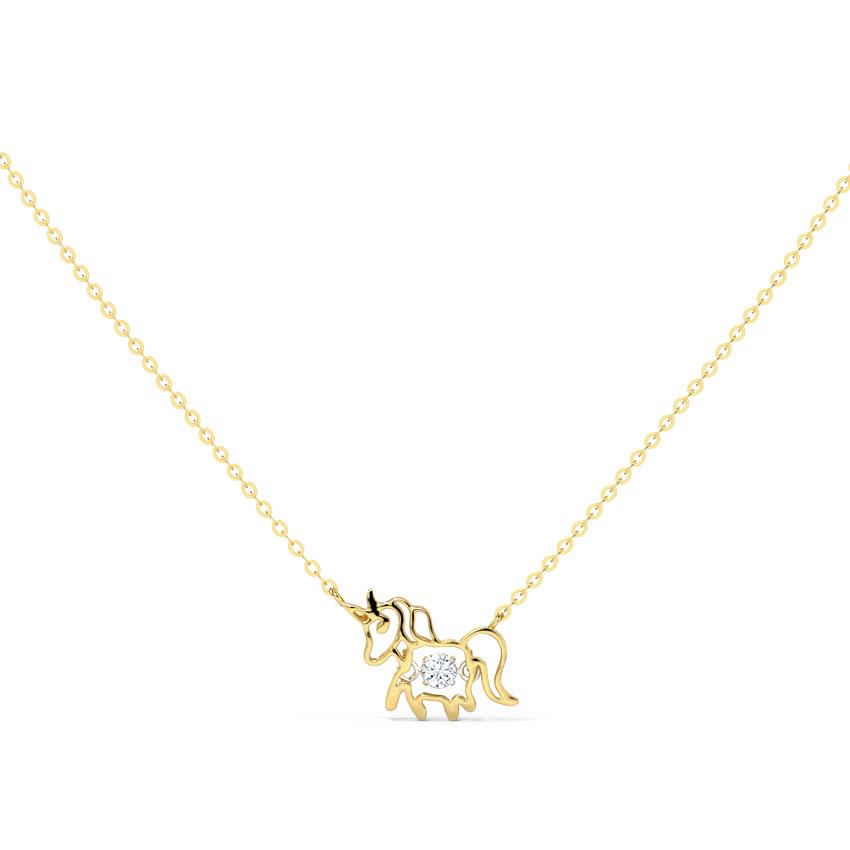 Unicorn Heartbeat Diamond Necklace