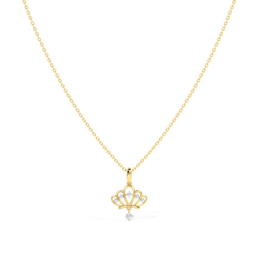 Vintage Crown Necklace