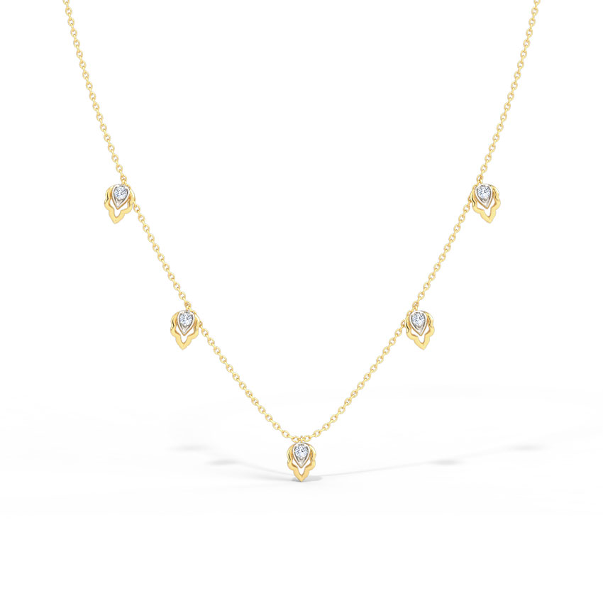 Florid Fine Line Necklace