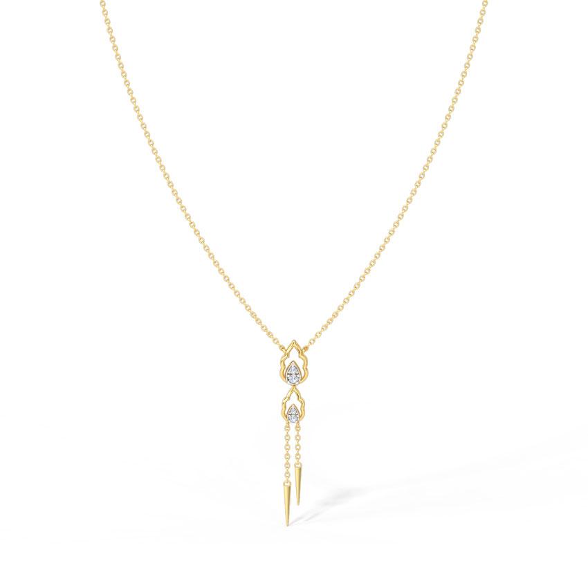Florid Lariat Necklace