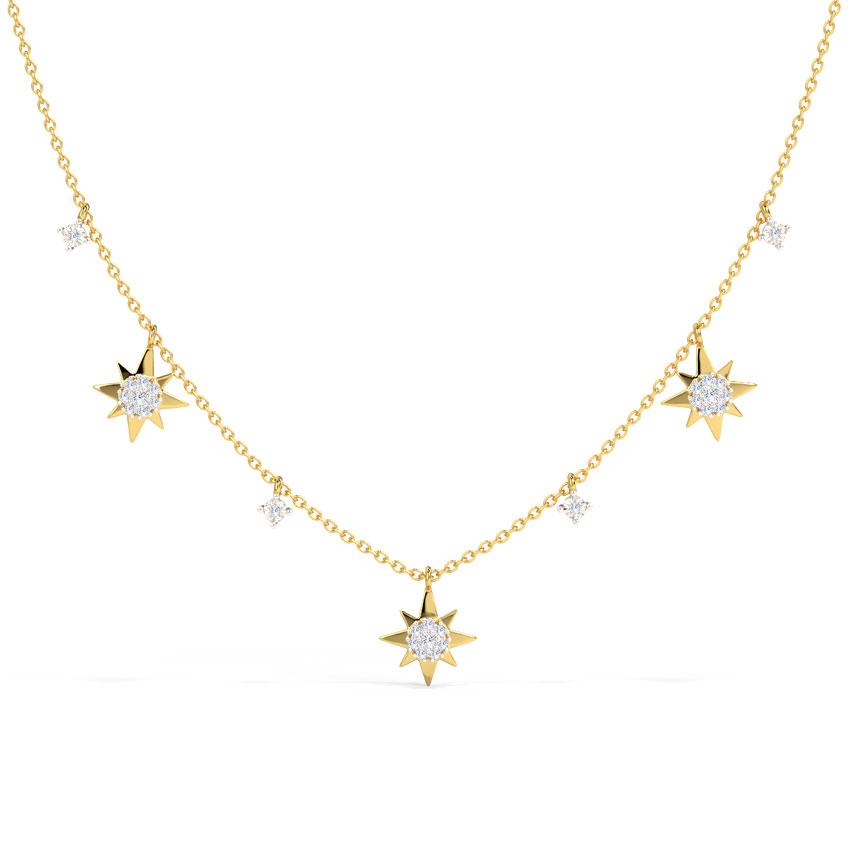 Twinkling Stars Fine Line Necklace