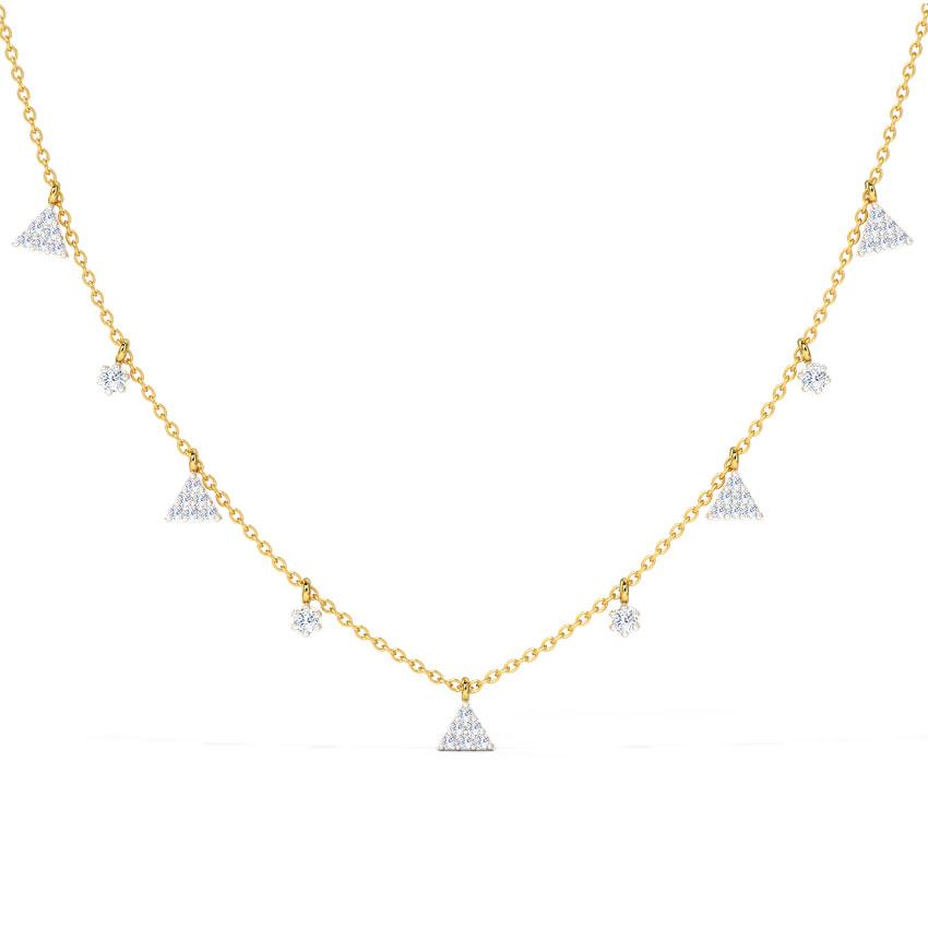 Triad Sway Fine Line Necklace