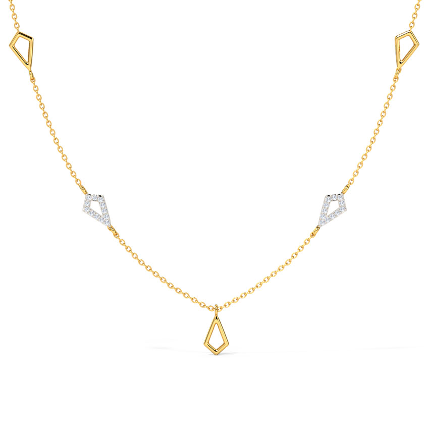 Bedecked Geometric Fine Line Necklace
