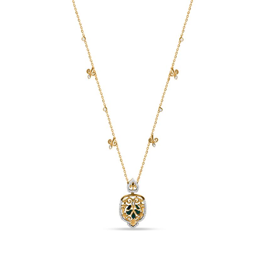 Diamond Necklaces 18 Karat Yellow Gold Caroline Adorn Diamond Necklace