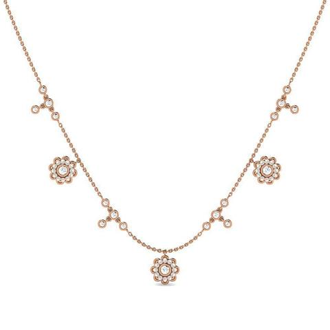 Diamond,Gemstone Necklaces 18 Karat Yellow Gold Field of Joy Gemstone Necklace