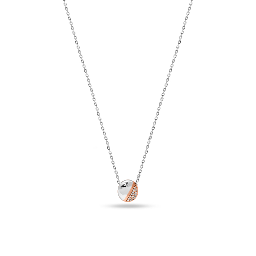 Platinum,Gold,Diamond Necklaces Platinum 950, 18 Karat Two Tone Gold Classic Glinting Platinum Necklace