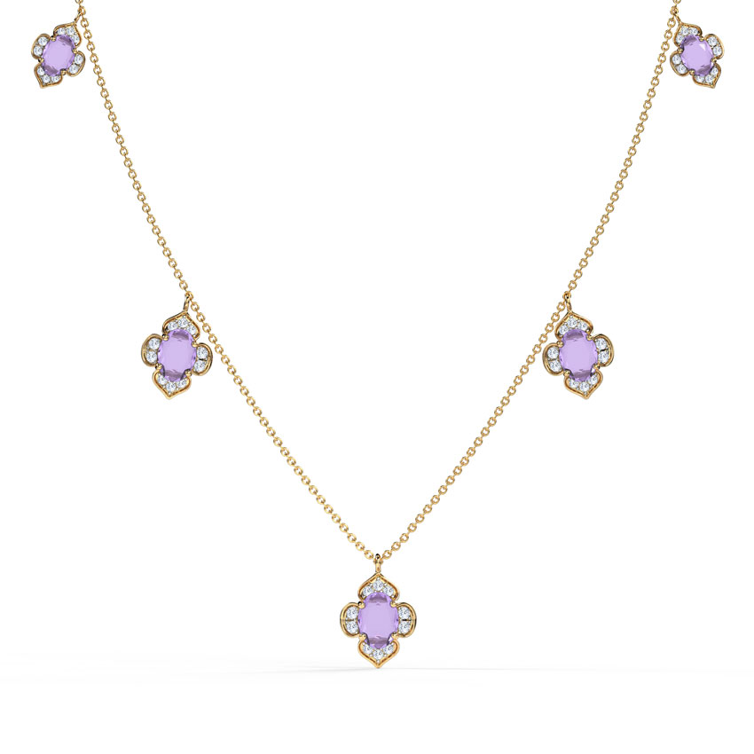 Majestic Bloom Fine Line Necklace
