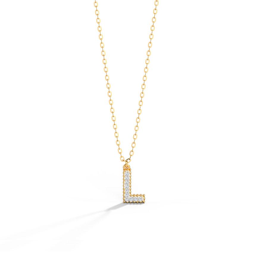 Dazzle Alphabet L Necklace