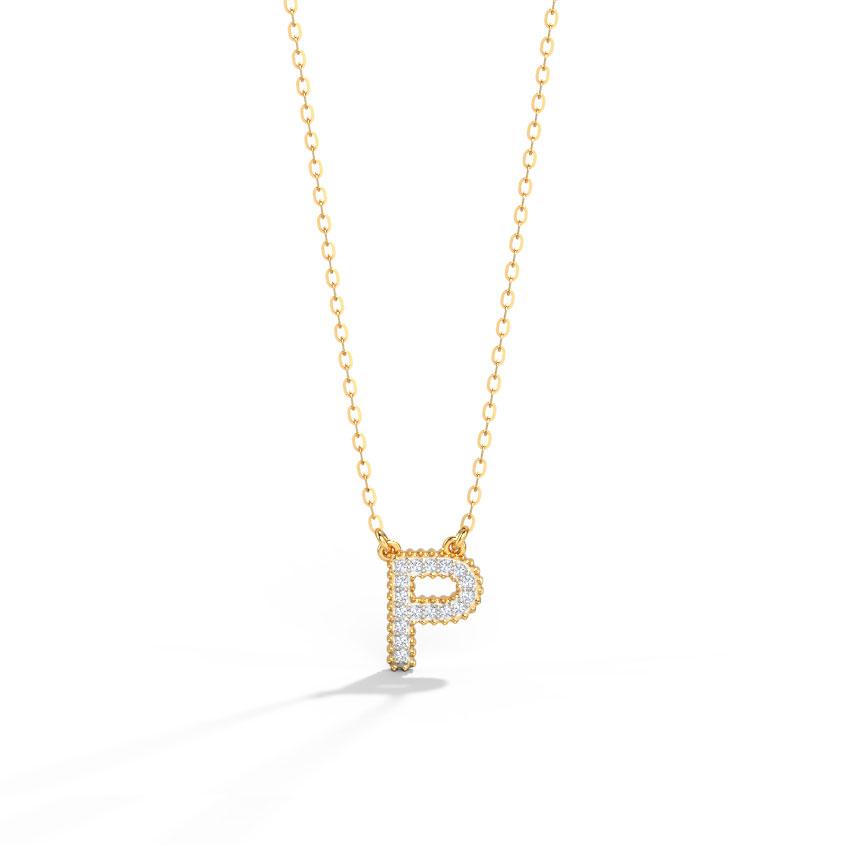 Dazzle Alphabet P Necklace