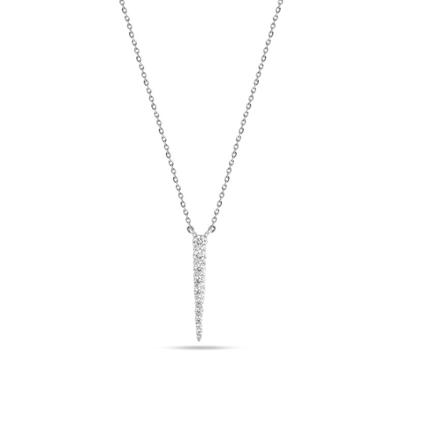Diamond Necklaces 14 Karat White Gold Blazing Diamond Necklace
