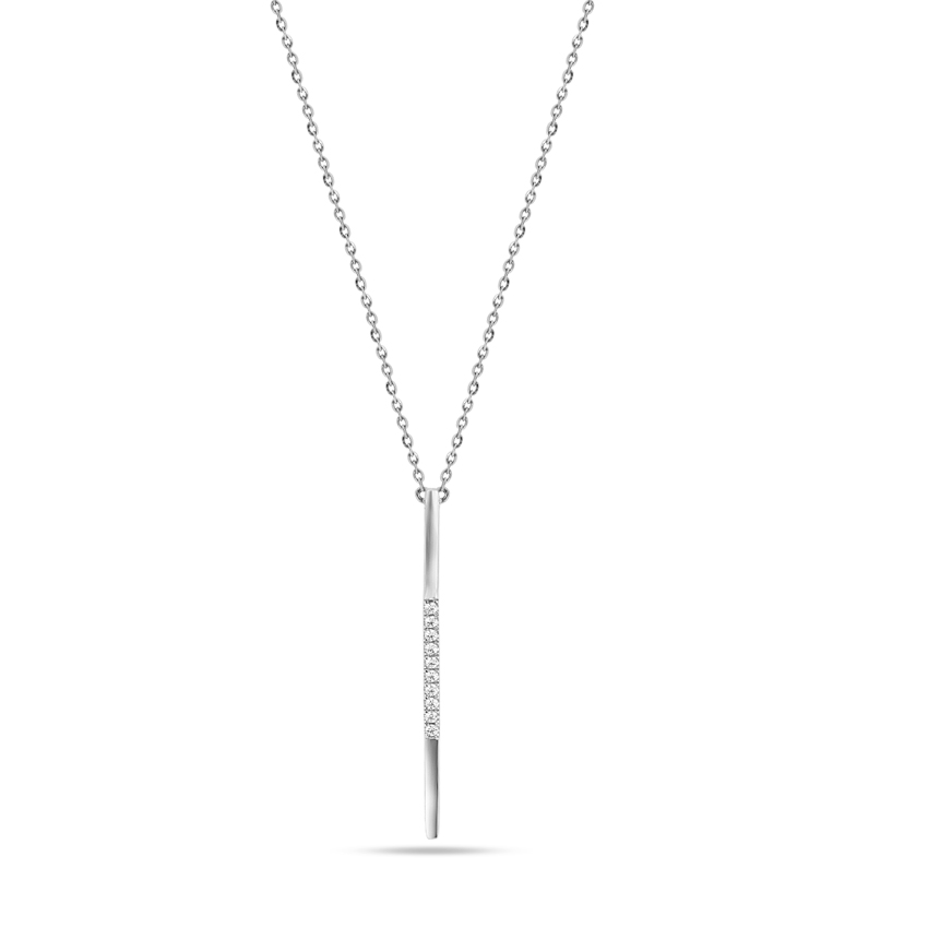 Diamond Necklaces 14 Karat White Gold Fine Diamond Necklace