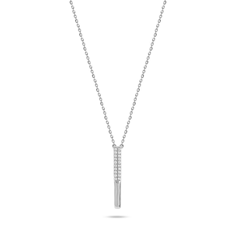 Diamond Necklaces 14 Karat White Gold Della Shine Diamond Necklace