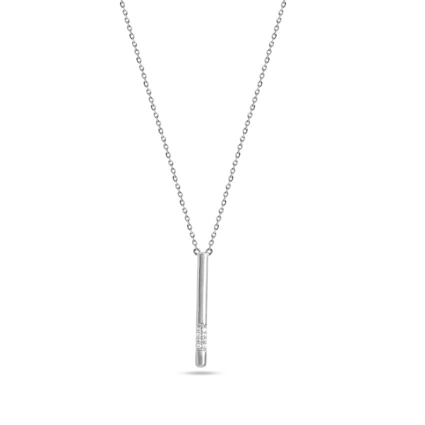Diamond Necklaces 14 Karat White Gold Sheen Necklace