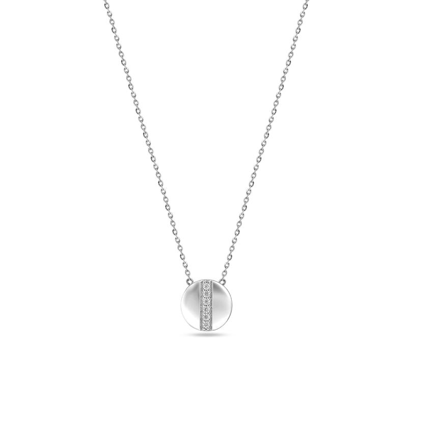 Diamond Necklaces 14 Karat White Gold Orb Dazzle Diamond Necklace