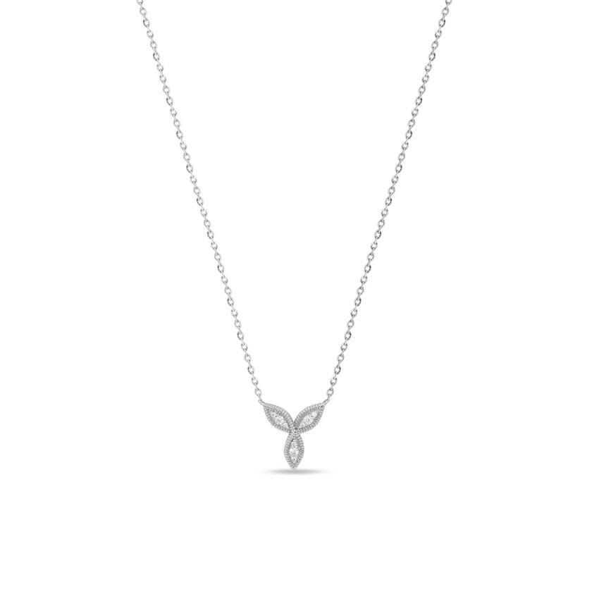 Diamond Necklaces 14 Karat White Gold Bella Lucky Diamond Necklace