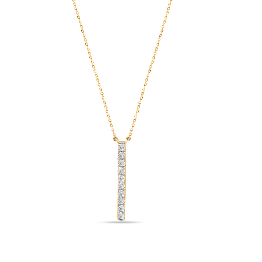 Diamond Necklaces 14 Karat Yellow Gold Caily Alluring Diamond Necklace