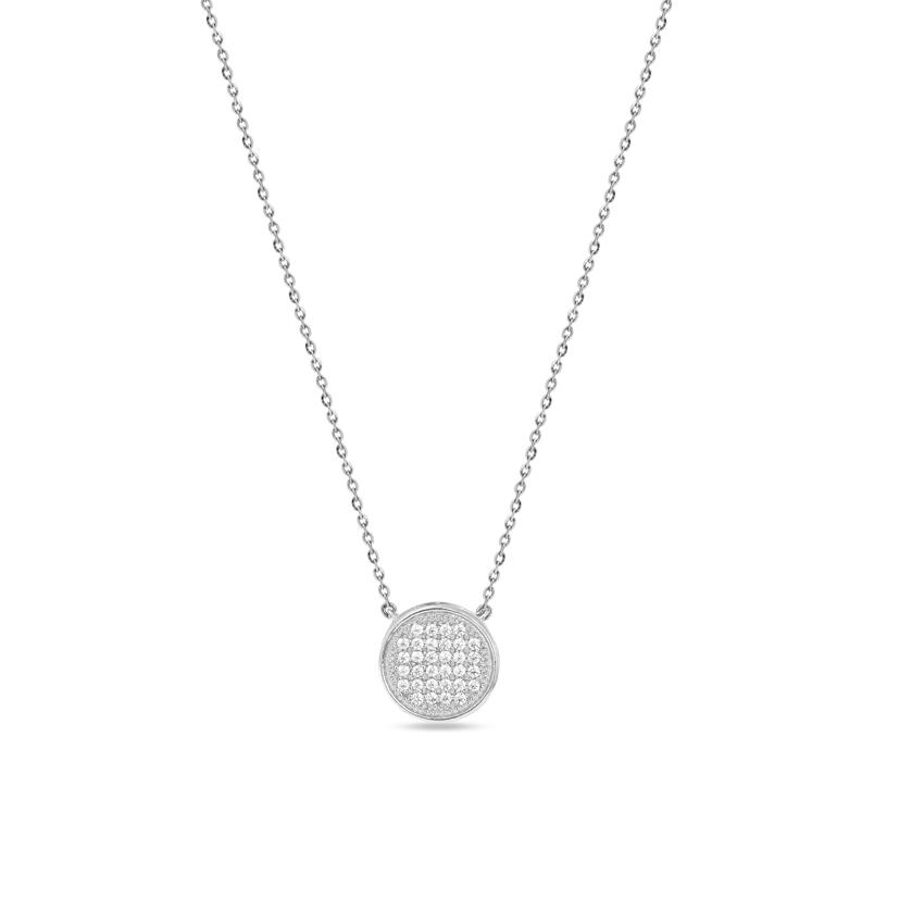 Diamond Necklaces 14 Karat White Gold Mesmerizing Circlet Diamond Necklace