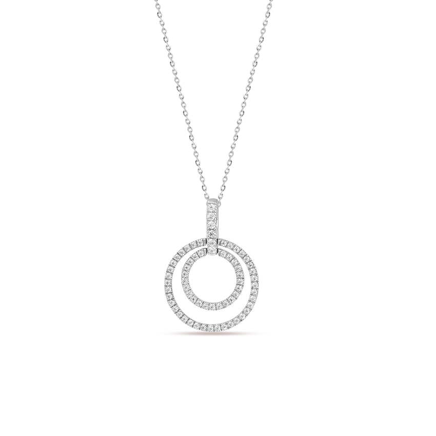Diamond Necklaces 14 Karat White Gold Rumi Radiant Diamond Necklace