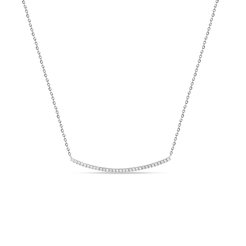 Diamond Necklaces 14 Karat White Gold Ellen Enticing Diamond Necklace