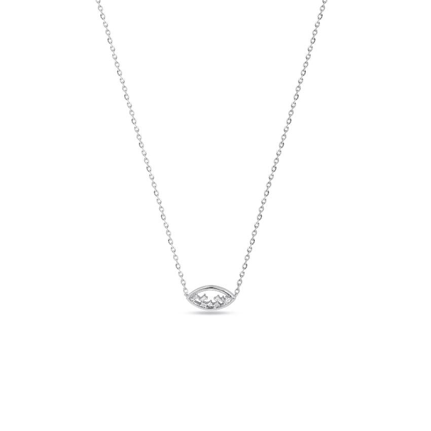 Diamond Necklaces 14 Karat White Gold Ash Delightful Diamond Necklace