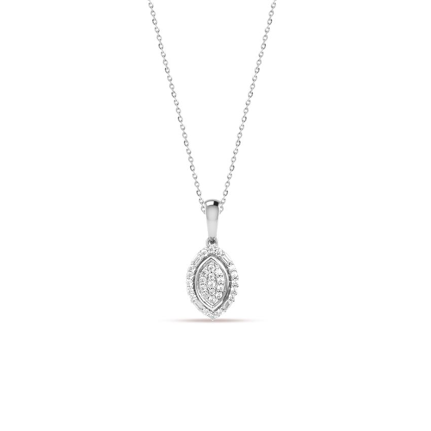 Diamond Necklaces 14 Karat White Gold Claire Twinkling Diamond Necklace